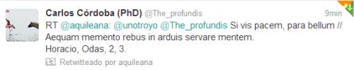 Hacer click en el Tweet  para conectar con  @The_profundis.