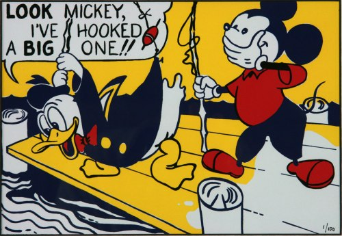 Roy-Lichtenstein-Look-Mickey-art