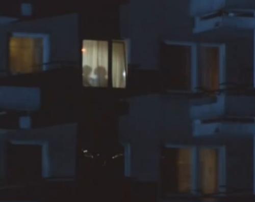 """""""A Short Film About Love"""". Luego de divisar la silueta de Tomek en la ventana de su apartamento, Magda logra ver que se acerca otra sombra, la de su madre adoptiva. Este detalle tampoco aparece en la versión de """"Decálogo Seis""""."""