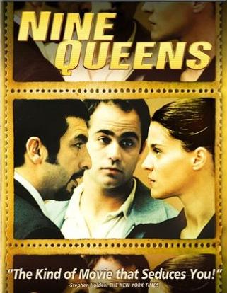 """Poster película """"Nueve Reinas"""", en inglés."""