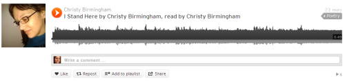Click on the image above to listen to Christy´s reading of her poem.-