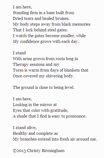 """I Stand Here"", by Christy Birmingham.-"