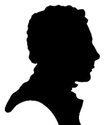 Silhouette of John Keats by Charles Brown, given to his sister Fanny Keats, 1819.-