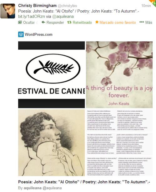 """To Autumn By John Keats Analysis: Poesía: John Keats: """"Al Otoño"""" / Poetry: John Keats: """"To"""