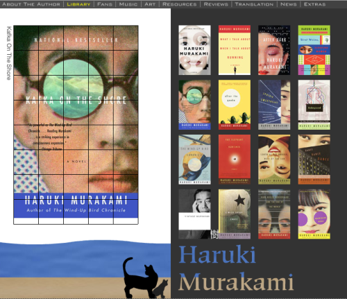 Click on the image above to  visit Murakami´s site.-