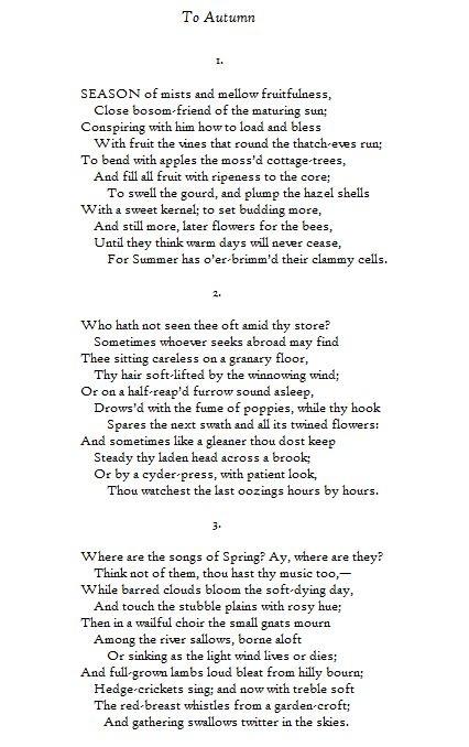 """Poesía: John Keats: """"Al Otoño"""" / Poetry: John Keats: """"To Autumn ..."""