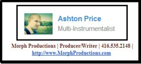 Click on Ashton´s picture to contact him at Morph Productions.-