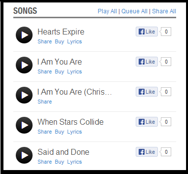 Click on the image above to listen to the songs at Reverbnation.-