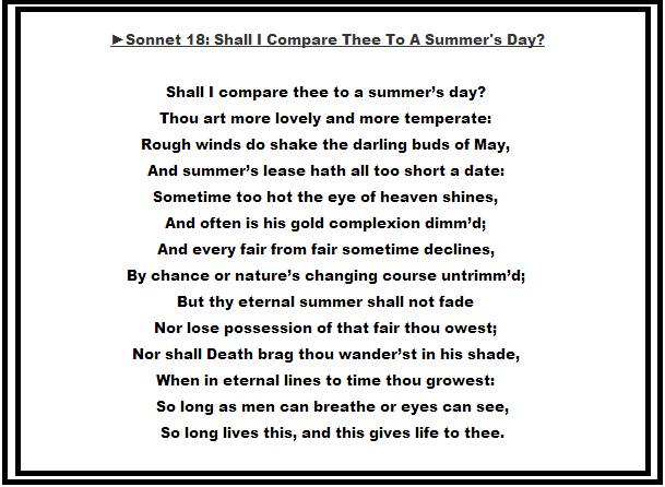 poetry william shakespeare ldquo soneto xviii rdquo ldquo sonnet xviii acirc153currenwilliam shakespeare ldquosonnet 18rdquo