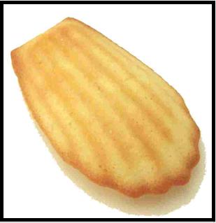 """""""Un de ces gâteaux courts et dodus appelés Petites Madeleines qui semblaient avoir été moulées dans la valve rainurée d'une coquille de Saint-Jacques""""…"""
