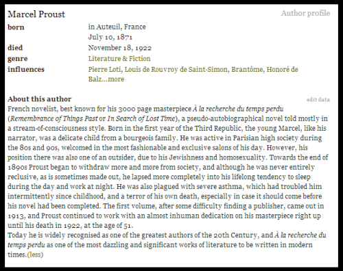 Marcel Proust´s Biography.-