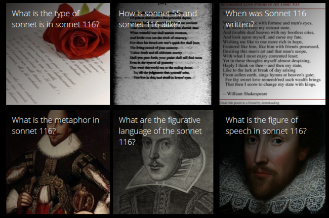 Click above to search for topics regarding Sonnet 116.-