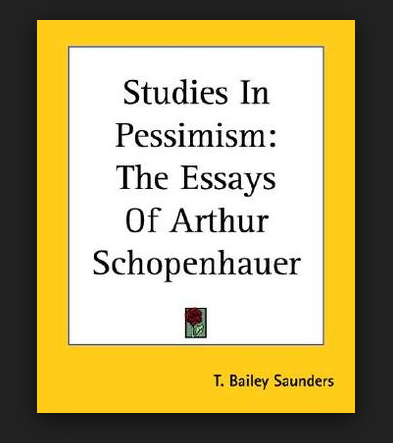 Click on the book cover to read Schopenhauer´s  Essays .-