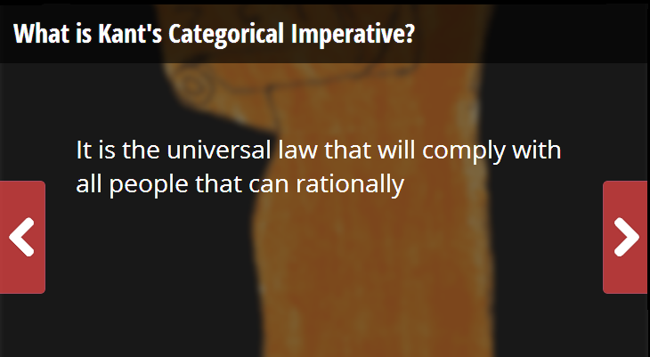 the kantian philosophy outlining the universal law formation of the categorical imperative