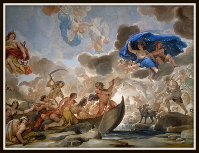 """Charon"" (1684-6) by Luca Giordano. Palazzo Medici-Riccardi, Florence.-"