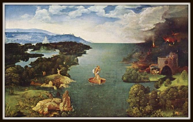 """""""Paso de la Laguna Estigia """" by Joachim Patinir."""