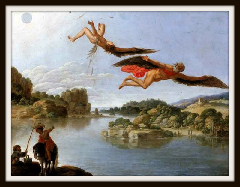 Icarus Flying Too Close To The Sun Painting | www.pixshark ...