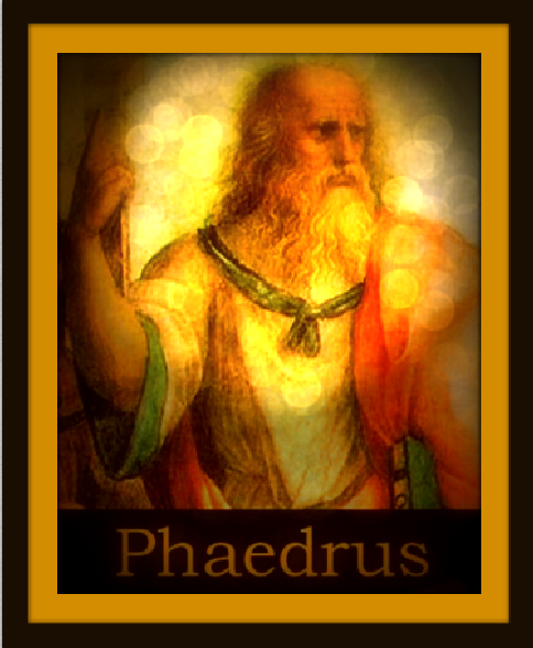 "Click on the image above to read the dialogue ""Phaedrus"" by Plato.-"