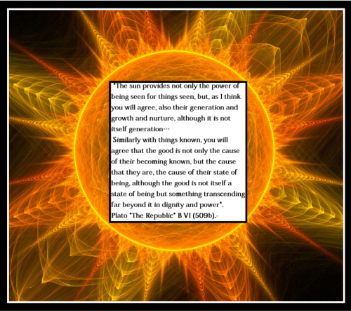 "The analogy of the sun (Excerpt of Plato´s ""Republic"").-"