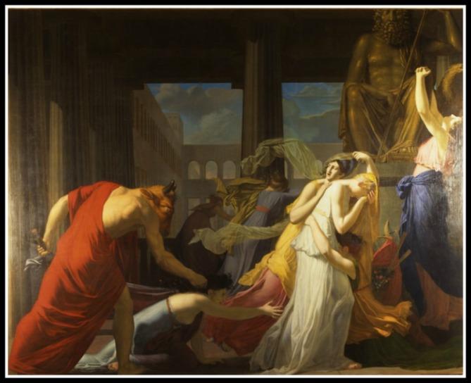 """""""Les sept athéniennes livrées au Minotaure"""" par Jean-Baptiste Peytavin.-"""