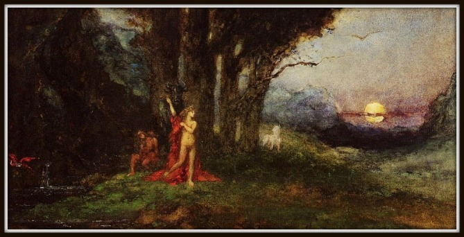 """Pasiphae and the Bul"" by Gustave Moreau (1880).-"