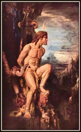 """Prometheus"" by Gustave Moreau. (1868). Prometheus was Atlas´brother."