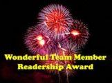 Wonderful Team Member Readership Award.