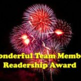 Wonderful Team Member Readership Award.