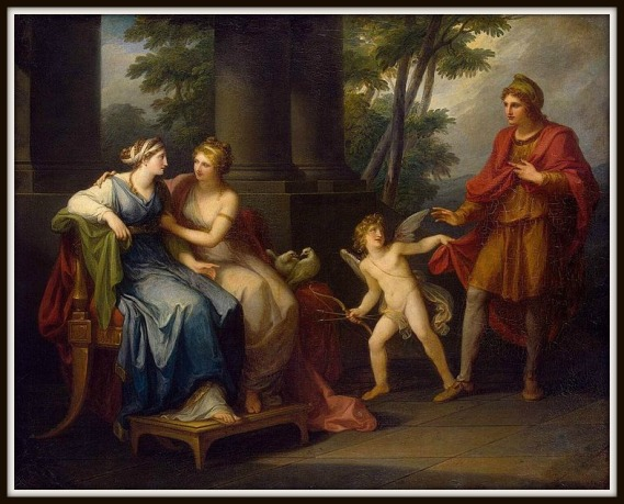 """Venus Induces Helen to Fall in Love with Paris"" by Angelica Kauffmann.-"