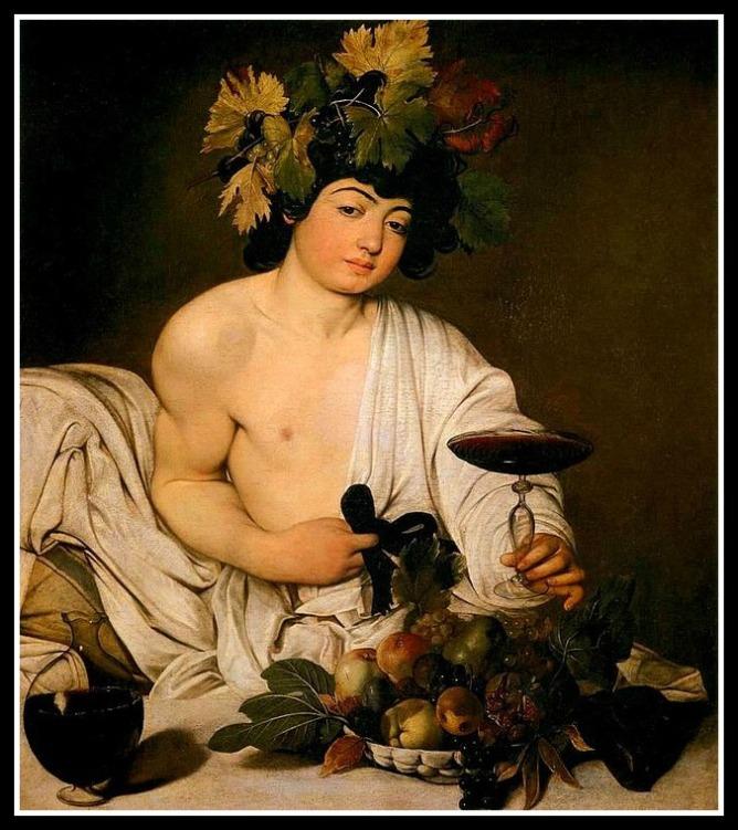 """""""Bacchus"""" by Michelangelo Merisi da Caravaggio (1595).-"""