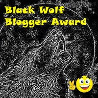 Black Wolf Blogger Award.-