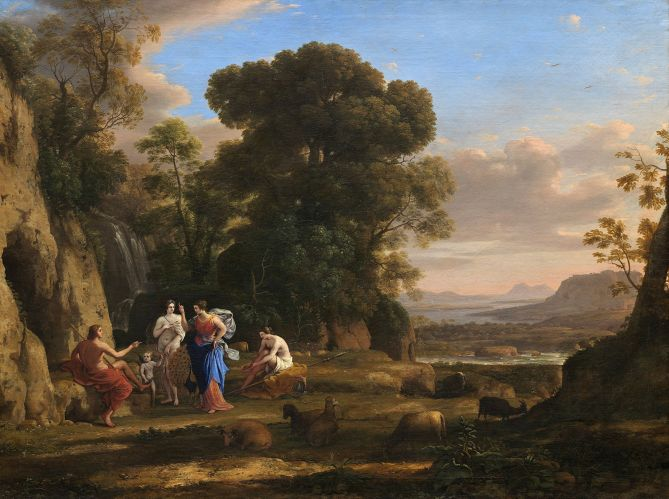 """The Judgment of Paris"" by Claude Lorrain (1645-1646).-"