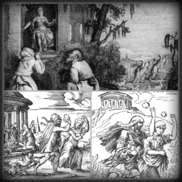 greek mythology flood