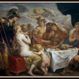 """ Golden Apple of Discord"" by Jacob Jordaens (1633).-"