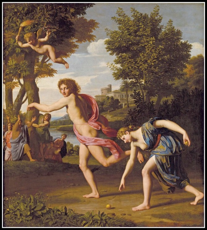 """The Race between Atalanta and Hippomenes"" by Nicolas Colombel (1680).-"