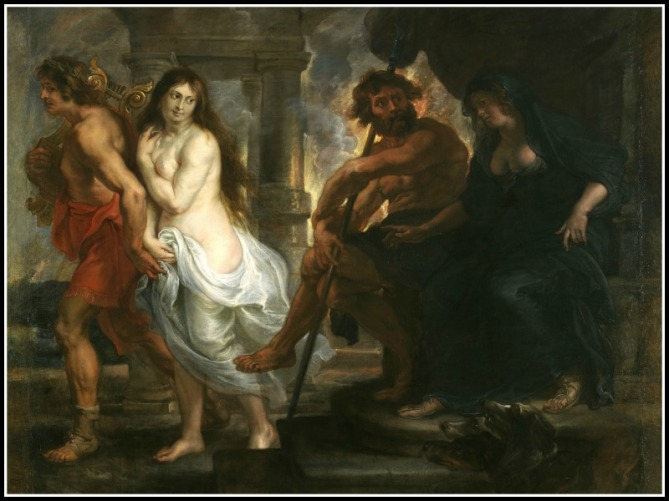 """Orpheus and Eurydice"" by Peter Paul Rubens.-"