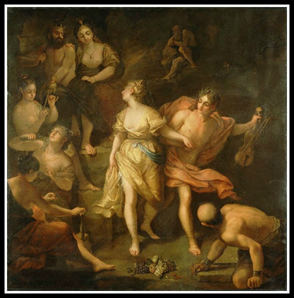 """Orpheus and Eurydice"" by Jean Raoux.-"