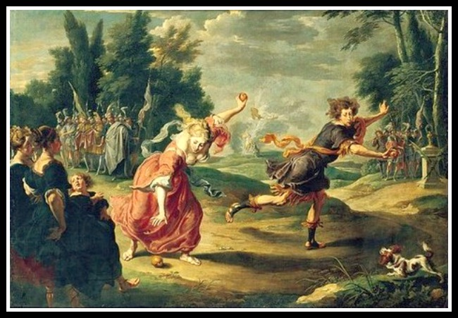 """Atlanta and Hippomenes"" by Willem van Herp (1632).-"