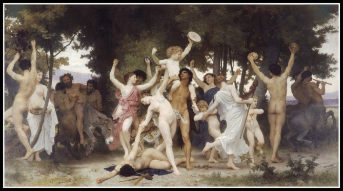 """The Youth of Bacchus (Dionysus)"" by William-Adolphe Bouguereau (1884).-"