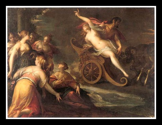 """The rape of Proserpina"" by Hans von Aachen (1586).-"