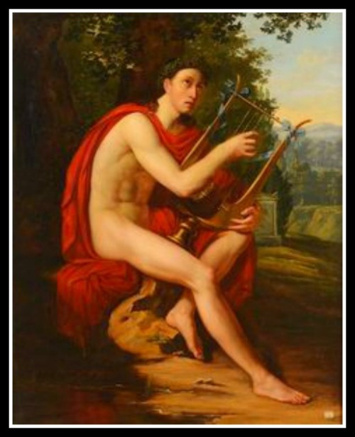 """Apollo Playing the Lyre"" by Charles Philippe Lariviere.-"