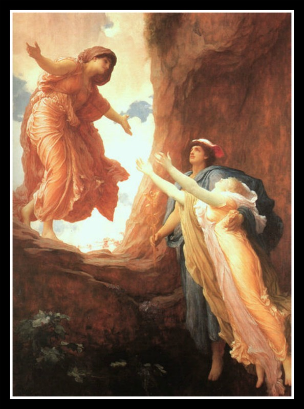 """Persephone and Demeter Reunite"" by Frederic Leighton, (1891).-"