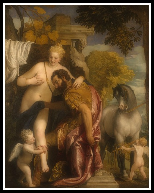 """Mars and Venus United by Love"" by Paolo Veronese. (1570)."