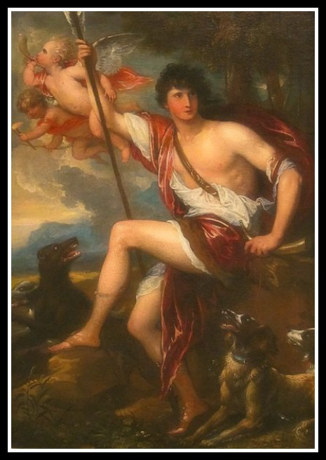 """Adonis"" by Benjamin West (1800)."