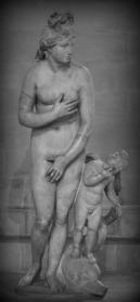 """""""Borghese Venus"""", 2nd century. Roman marble copy of the Aphrodite of Cnidus (Capitoline Venus subtype). Musée du Louvre. Paris. France."""