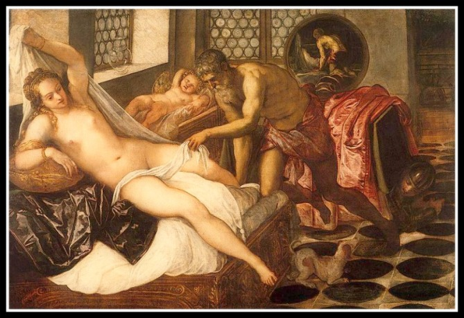 """Venus (Aphrodite), Mars (Ares), and Vulcan (Hephaestus)"" by Jacopo Tintoretto (1551)."