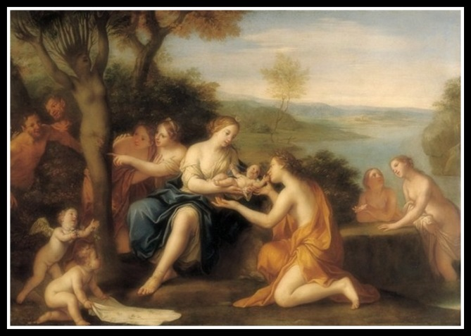 """Birth of Adonis"" by Marcantonio Franceschini  (1690)."