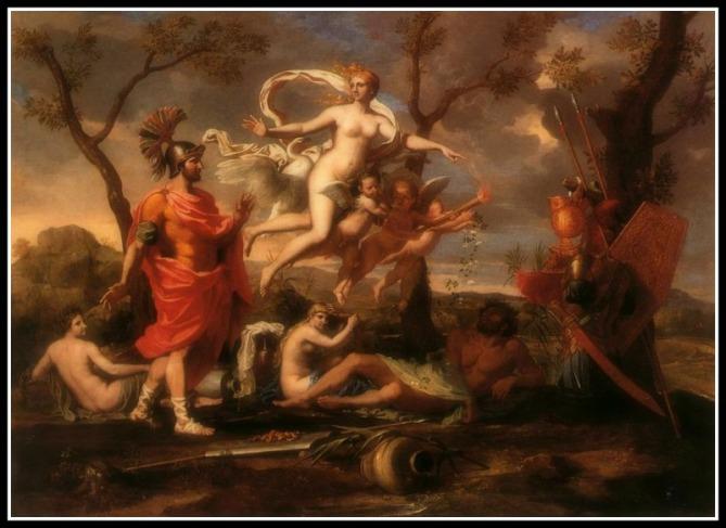 """""""Venus Presenting Arms to Aeneas"""" by Nicolas Poussin (1639_.-"""