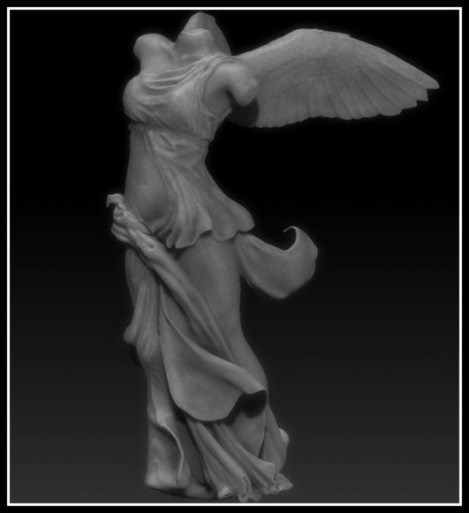The Nike of Samothrace (Unknown Greek artist) is a 2nd-century BC marble sculpture of the Greek goddess Nike (Victory).  Unknown Greek artist Since 1884, it has been  displayed at the Louvre.-