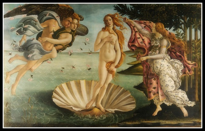 """The Birt of Venus"" by Sandro Botticelli (1486)."